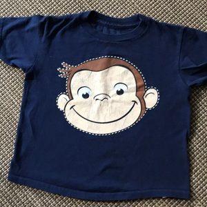 Curious George kids tee shirt